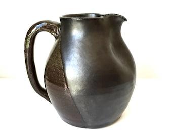 Black Ceramic Pitcher - 60 fl oz