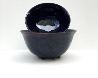 Dark Purple Bowls - Set of Two