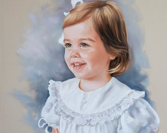 Pastel portrait, Commission children portraits