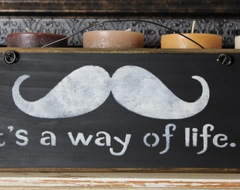 mustache sign, wooden block, mantle piece, wooden quote sign,mustache,geek,nerd,quirky,funny,humor,gift