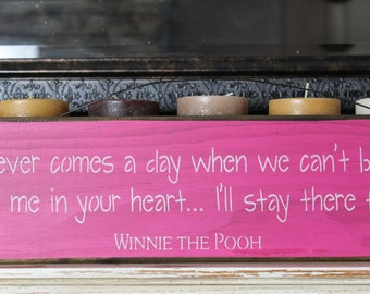 winnie the pooh quote wooden sign