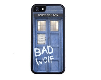 Doctor Who Tardis BAD WOLF Case For iPhone 4/4s, 5/5s, 5c, 6/6s or 6 +/6s+, 7 or 7 Plus. Tardis iPhone case, Dr Who iPhone case.