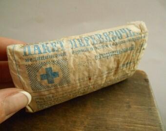 Soviet vintage gauze Antiseptic sterile bandage gauze roll bandage Russian medical surgical gauze Soviet first aid USSR era medical 80s