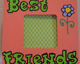 Best Friends Picture Frame Coral