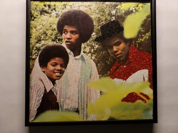 Glittered Record Album - Jackson 5 - Michael Jackson - Maybe Tomorrow