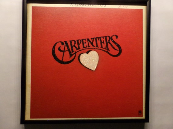 Glittered Record Album - Carpenters - A Song For You