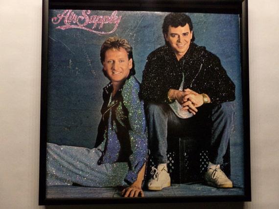 Glittered Record Album - Air Supply - No Title