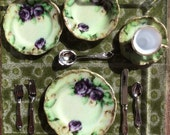 """1"""" Scale Place Setting of Beautiful 'China', with flatware - NEW PATTERNS"""