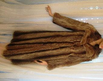 Vintage Raccoon Fur Coat, A. Herman Furs, ca 1960s