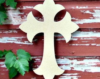 Unfinished MDF Wooden Cross #33b