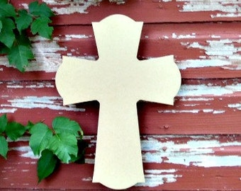 Unfinished MDF Wooden Cross #61