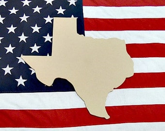 Texas State Unfinished Wooden Shape, Paintable Wooden Craft