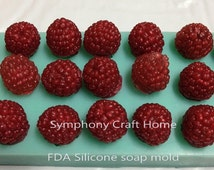 Raspberries silicone mold, fruit mold, tart mold, wax mold, sugar mold, Silicone mold
