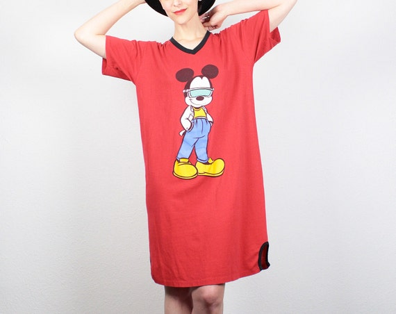 jahrgang micky maus tshirt 80er jahre tshirt kleid 80er jahre t shirt. Black Bedroom Furniture Sets. Home Design Ideas