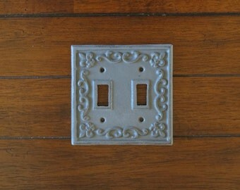 Light Switch Plate Cover/ Shabby Chic Switch Cover/ Cast Iron Switch Cover/Dark Grey or Pick Your Color