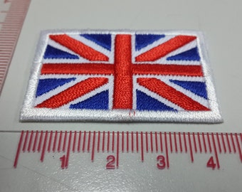 United Kingdom Flag Iron on patch - Union Jack Flag Applique Embroidered Iron on Patch