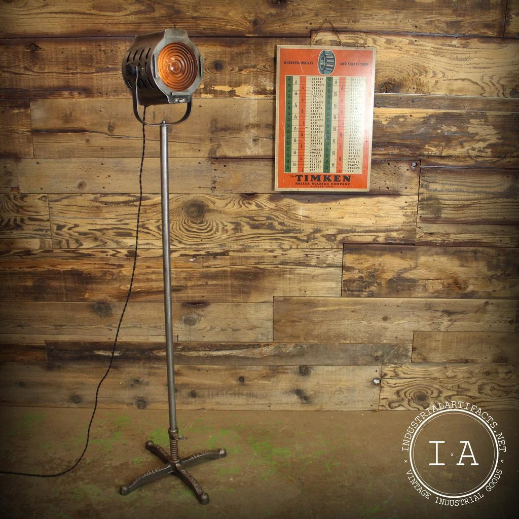 Industrial Light Stands: Vintage Industrial Kliegl Bros Theater Spot Light With Stand