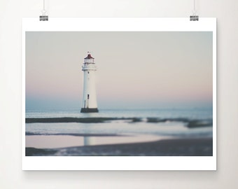 lighthouse photograph beach photograph nautical photograph lighthouse print coastal print pastel home decor sunrise photograph