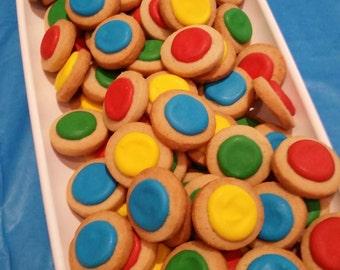 Mini LEGO Round Button Cookies (4 dozen)