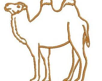 camel applique - Machine Embroidery Design