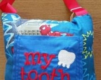 Spiderman tooth fairy pillow