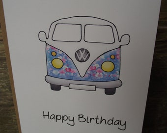 Happy Birthday Camper van Card!