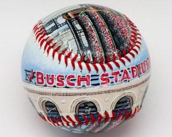 Busch Stadium III - St louis Cardinals, Cardinals Fan, Baseball Fan Gift, Cardinals Fan Gift (SS36)