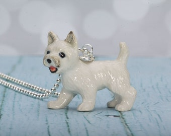 Westie Necklace - West Highland White Terrier - Dog - White Dog - Dog Jewelry - Westie Pendant - Silver Necklace - Animmal Necklace - Dog