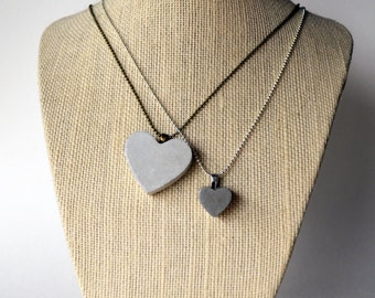 Concrete Heart Necklace | Large or Small