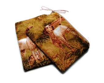 Reusable Snack Bags Set of 2 Zipper Hunting Dogs
