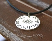 Leather Choker - Black Leather Women Choker - Leather Cord Necklace - Rustic - Sunshine Necklace - Cute Girl Necklace - Girl Choker Gift