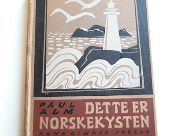 Vintage Norwegian Book, Dette Er Norskekysten