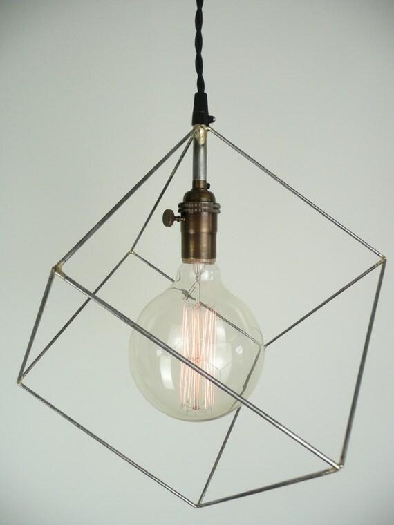 Cube Pendant Light Minimal Pendant Light Hanging Square