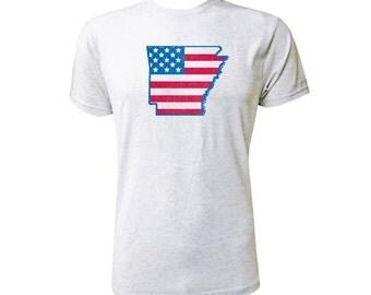 Arkansas American Flag - NLA Heather White