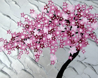cherry blossom painting, cherry blossom art, paintings of cherry blossom, painting of cherry blossoms, art from Australia, Australian art