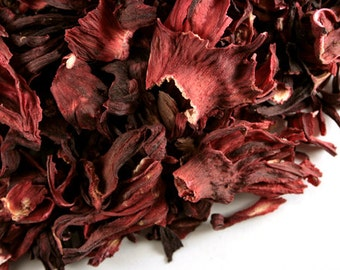 Organic Hibiscus Flower dried herb one ounce bag