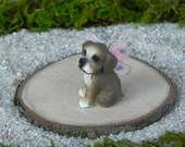 Miniature Fairy Dog Puppy fairy pet - fairy garden accessories for terrarium or dollhouse accessory
