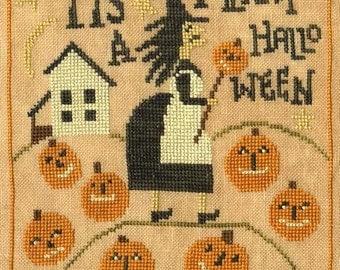 Cross Stitch Pattern - Merry Halloween