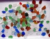 115 pcs of unusual sea glass colors from the Peruvian coast HU-0006