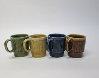 Set of 4 Vintage Japan Stacking Cups