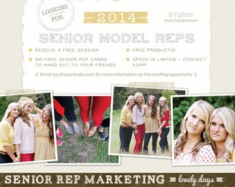Senior Model Rep Marketing Board Blog Board Ad for Photographers INSTANT DOWNLOAD