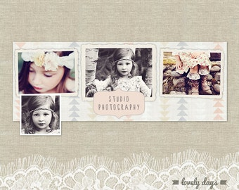Facebook Timeline Design Photography Template for Photographers INSTANT DOWNLOAD