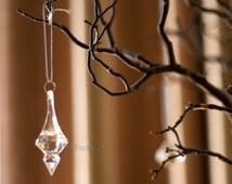 Pendant Hanging Crystals Ornament Acrylic Drop Wedding Decorations - Centerpiece - Chandelier Parts ( set of 12 )