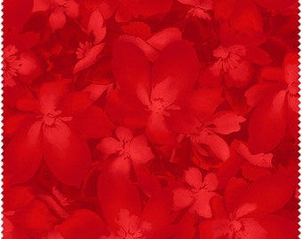 Catalina Red Tonal Floral (8406-R) by Marti Michell for Maywood Studios - Yardage