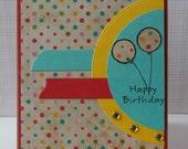 Happy Birthday Bright Color Balloon Card