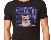 Cats On Synthesizers In Space - Modular Cat Tshirt
