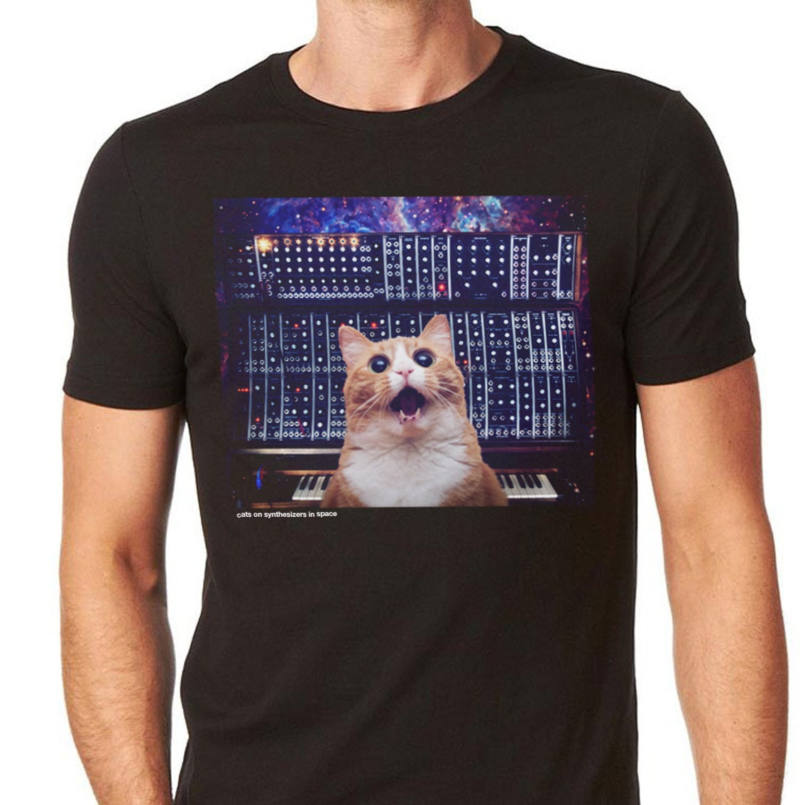 Cats Synthesizers In Space Modular Cat T Shirt