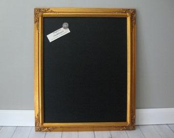 GOLD FRAMED CHALKBOARD Large Magnetic Wedding Reception Sign Photo Prop Kitchen Blackboard Ornate Wood Frame Restaurant Menu Chalk Board #12
