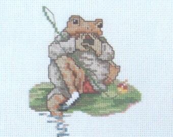cross stitch beatrix potter mr jeremy fisher sucking fingers CHART INSTRUCTIONS ONLY lakeland artist new