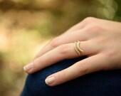 Wedding rings wave set, art deco wedding ring set, delicate engagement ring, diamond wedding ring set, gold stacking rings, solid gold ring